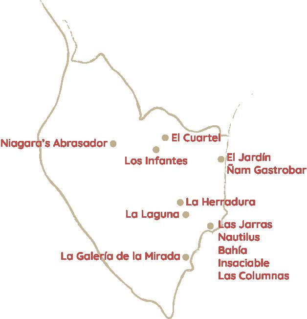 mapa FESTIVAL GASTROVEJAGABAJA